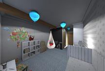 pokoje / różne wizualizacje różnych pokoi, każdy pokój czym inny inspirowany, każdy w innym charakterze