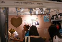 Wedding Shows / Shropshire Petals love to meet brides to be at wedding shows across the country. Why not come to see us for your free confetti sample?