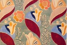 Bloomsbury / Literary, British Bohemian. Charleston. Handpainted. Chipped. Scruffy. Cottagy. Overstuffed. Worn classic things. Sonia Delaunay prints. Bell art. Art contemporary to 1920-1940, regardless of provenance. Handpainted interiors.  / by Jill Scheintal