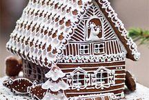 Chatki z piernika dekoracja