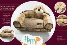 Happy Time / Dale a su mundo un lugar mejor y consiente a tu mascota con un sofá decorativo 100 por ciento lavable. Convive con ellos en un ambiente único y acogedor.