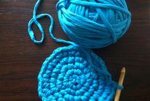 Basket@homedecor@háčkovaný koš / Jak uháčkovat koš z t-shirt příze/The crochet basket from t-shirt yarn