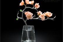 Gemstone carving art. Flowers / Камнерезное искусство. Цветы