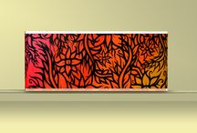 Graffiti radiator covers