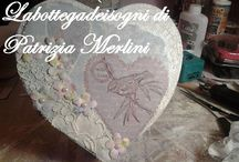 "Invitations,card,tableau,album, wedding favors / Scatola album ""love"""