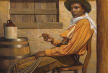 Black Western Art Print Collection