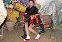 Halloween kimono girl - Original / Original design.  #kimono #halloween #cosplay #rydia #girl #originaldesign