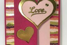 Cartes Coeur Scrapbooking