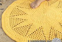 коврик вязаный