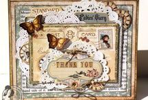 Cute vintage style cards / Scrapbooking cards