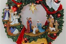Cenefas y Coronas navideñas