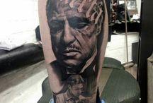 láb tetoválás