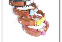 """Bracelets """"Pretty Style by A.deRo """" / Leatherartwork handmade by A. Sophia Sopiak de Rodriguez"""