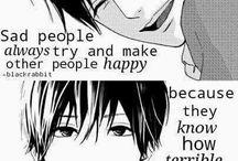 Depression anime, quotes.