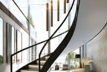 Stairs in Atrium Living Room