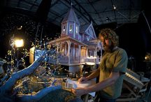 Miniature film sets / Film sets made in miniature, obviously....  Inspirational though.