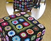 foot stools / crochet
