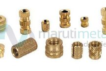 Brass Insert / We Manufacture, Export and supply High Precision Components all over INDIA, Europe, Middle-east, and Asian Countries. Our unit is located at Jamnagar (Gujarat), connected with all four logistics zones Sea, Airways, Railways and Roadways.  We also specialize in manufacturing custom components as per custom specification and requirements. For any of your requirements go through our wide product range and send us your drawing if the same matches in respect to your product range.