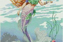 Marmaid crossstitch