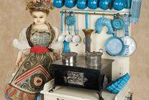 Poupées cuisines vaisselle ustensiles