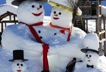 Bonhomme de neige...réel / by Shirley McLaughlin