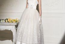 middlength wedding dress