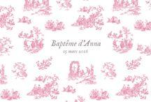 ❤ Faire part baptême vintage ❤ / Faire part de baptême style vintage