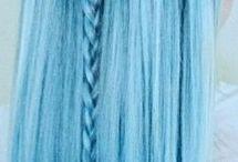 Blue hair style