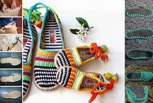 sapatilhas de croche