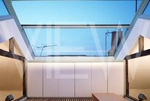 Sliding glas roof