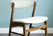 mid-century armchairs / upcycled mid-century chairs