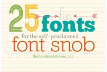 DESIGN: Fonts & Lettering / by Kristina Smith