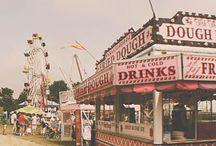 Amusements / carnivals, fairs, ferris wheels, swings