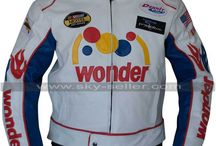 Talladega Nights Ricky Bobby Wonder White Racing Jacket / Buy this sophisticated Talladega Nights Ricky Bobby Wonder White Racing Jacket at most affordable price from Sky-Seller and avail free shipping