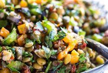 Healthy lentil salad and more
