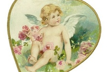 Hearts and cherubs