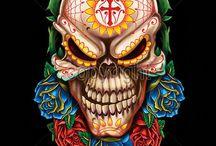 sugar skull tête