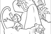 Mowgli e Baloo: Disegni da colorare