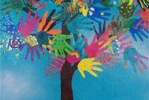 Boom met handen / Grote boom voor in de klas