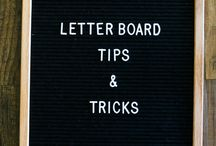 Home: Letter Boards