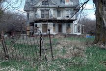 "Beautiful But Forsaken / Grand houses now derelict. Some are surely ""haunted"" by spirits who enjoyed these dwellings in their prime (both the spirits and the houses). / by Greg LeFever"