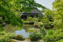 Isui-en: A Japanese Garden in Nara City, Japan. / Isui-en (依水園) is a Japanese garden located in Nara, the old capital of Japan near Kyōto. It has been preserved since its creation in the Meiji era, and is the only walking garden (kaiyushiki teien) in Nara. It is divided into two sections, which were originally two separate gardens, that each features a pagoda.