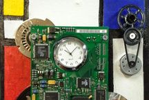 BAM! Member Melissa Glick of Hacker Junk Creations / Assemblage, jewelry, mosaics, and clocks incorporating obsolete computer parts
