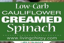 Spinach and cauliflower bake