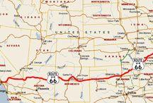 ROUTE 66 / A Rota mais famosa do mundo. A Rota 66 era uma rodovia norte-americana do U.S. Highway System. Foi estabelecida em 11 de novembro de 1926. Iniciava em Chicago, Illinois, passava pelos estados de Missouri, Kansas, Oklahoma, Texas, Novo México, Arizona e terminava na cidade de Santa Mônica, na Califórnia, totalizando 3 755 km.