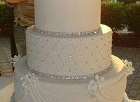 Satin wedding cake