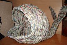 Newspaper weaving