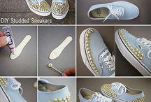 zapatos y decoración de zapatería