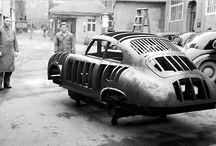 Old sport cars - Porsche (356, 550)
