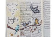 Art Journaling in your Bible / I have just learned about this beautiful art form, and can't wait ti try it!